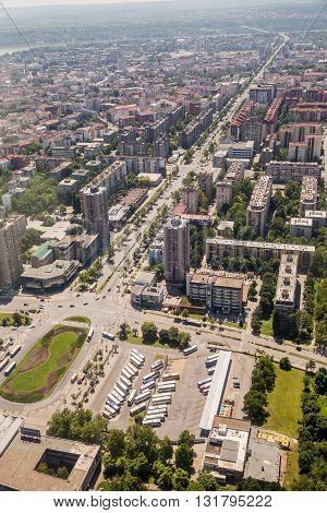 Panoramic View Of Novi Sad, Vojvodina, Serbia