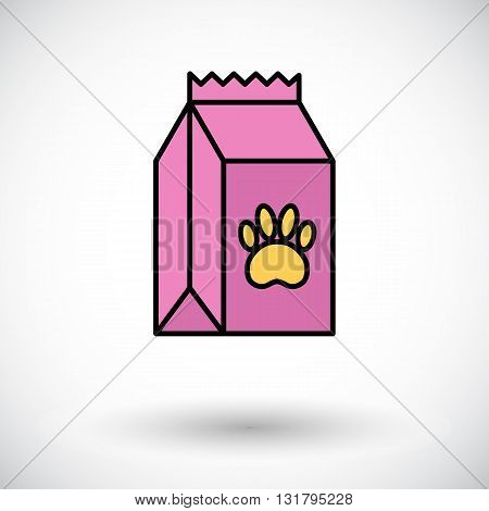 Pet food bag icon. Flat vector related icon for web and mobile applications. It can be used as - logo, pictogram, icon, infographic element. Vector Illustration.