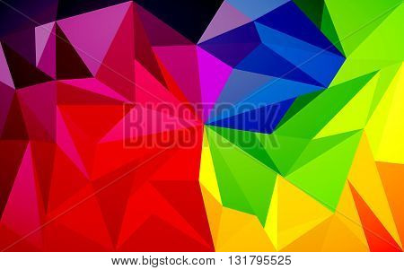 Vector illustration beautiful colorful background Triangulation texture