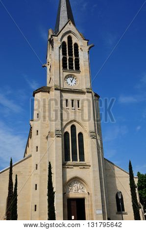 Les Mureaux France - may 25 2016 : the 19 th century church