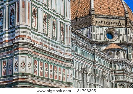 Famous duomo cathedral in Florence, touristic attraction and religious center in Italy.