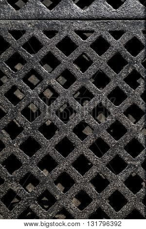 ancient pig-iron lattice from St. Petersburg,top view
