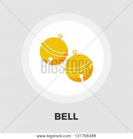 Bell icon vector. Flat icon isolated on the white background. Editable EPS file. Vector illustration.