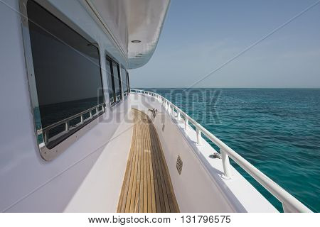 View Of Tropical Sea From Private Luxury Yacht