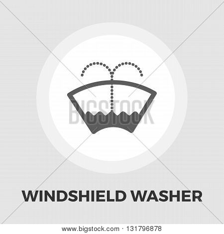 Windsield washer icon vector. Flat icon isolated on the white background. Editable EPS file. Vector illustration.
