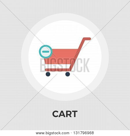 Cart Icon Vector. Flat icon isolated on the white background. Editable EPS file. Vector illustration.
