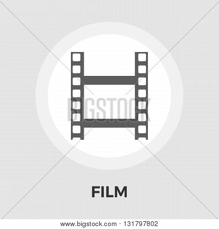 Film icon vector. Flat icon isolated on the white background. Editable EPS file. Vector illustration.
