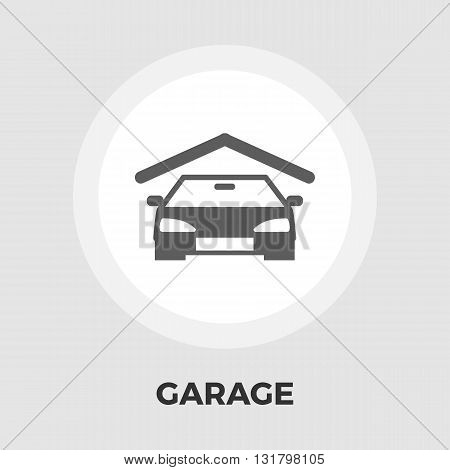 Garage icon vector. Flat icon isolated on the white background. Editable EPS file. Vector illustration.