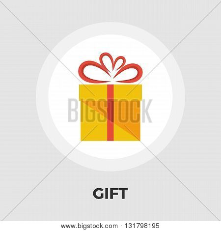 Gift box icon vector. Flat icon isolated on the white background. Editable EPS file. Vector illustration.