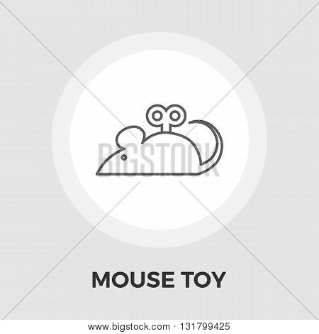 Mouse toy icon vector. Flat icon isolated on the white background. Editable EPS file. Vector illustration.
