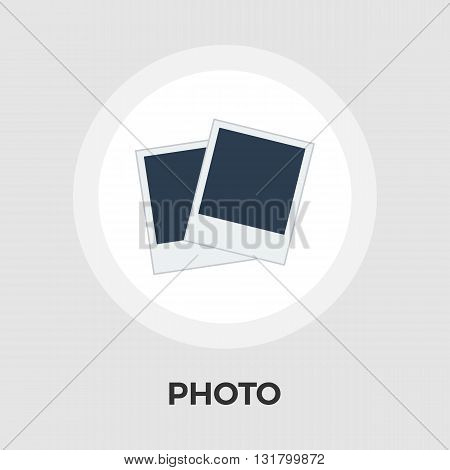 Photo Icon Vector. Flat icon isolated on the white background. Editable EPS file. Vector illustration.