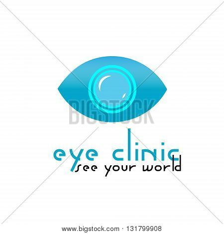Logo eye clinic logo illustration blue medical clinic for eye treatment