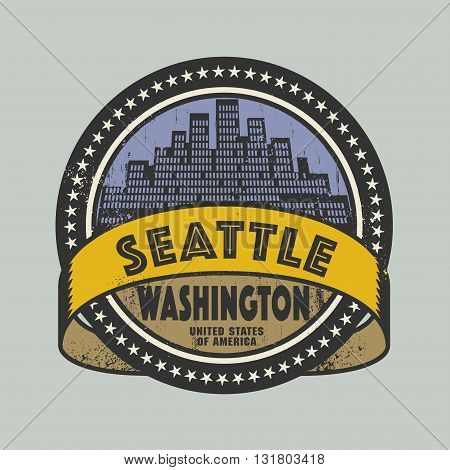 Grunge rubber stamp or label with name of Seattle, Washington, vector illustration