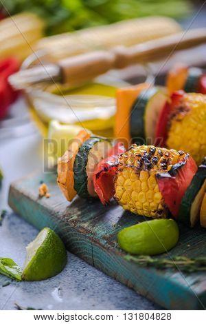 Barbecued Vegetables Skewers