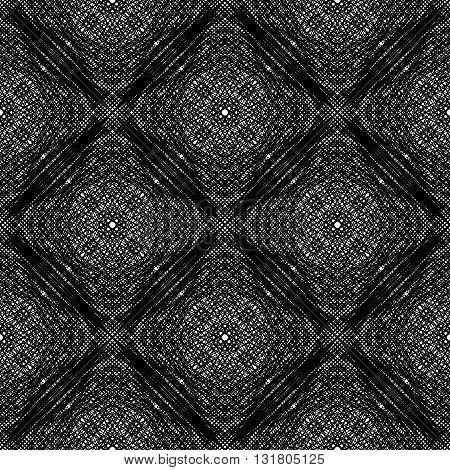Design Seamless Monochrome Grid Textured Background