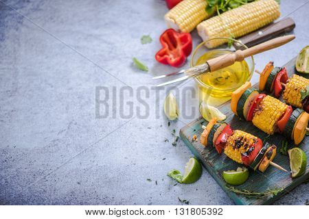 Barbecued Vegetables Skewers