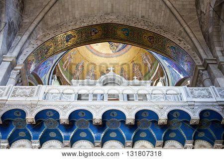 Jerusalem,  Israel - November 2, 2010: The Church of the Holy Sepulchre