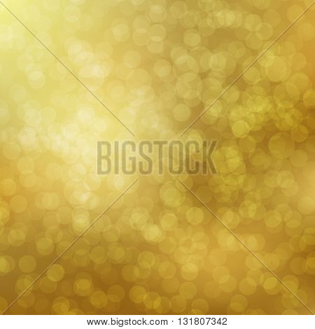 Gold Bokeh background with defocused lights. Vector illustration EPS10. Design for your cards, brochures, cover, flyers, banners, posters etc.