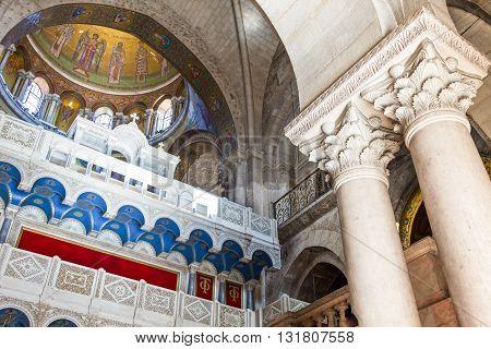 Jerusalem,  Israel - November 3, 2010: The Church of the Holy Sepulchre