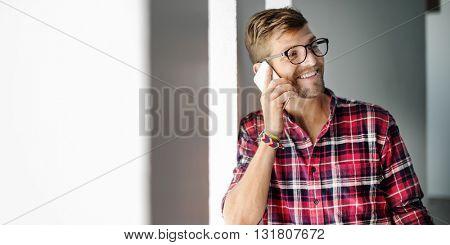Cellphone Calling Cellular Device Socialize Concept