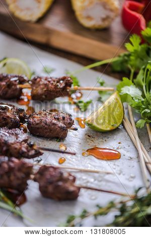 Charcoal Grilled Beef Kebabs
