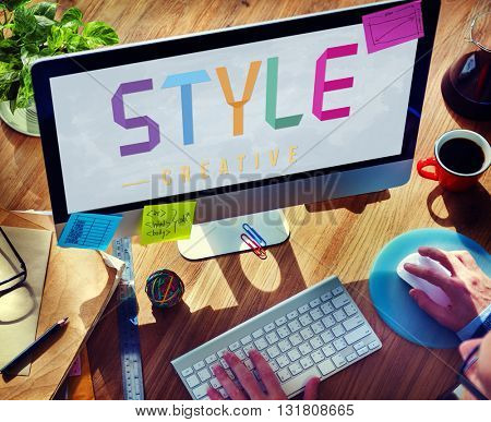 Style Design Elegant Character Hipster Vogue Concept