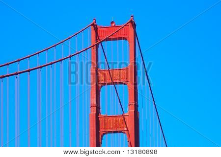 Zoom-Golden-Gate-Brücke von Fort Point