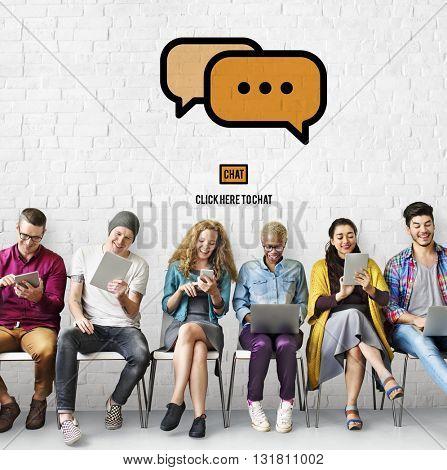 Communicate Socialize Talk Connect Technology Concept