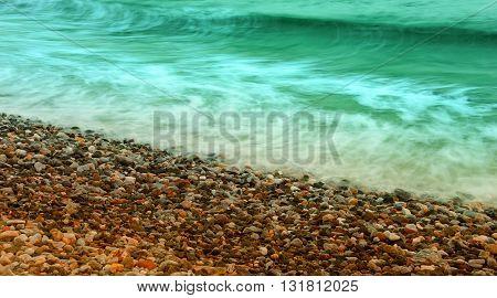 Long Exposure In Coastline Ii