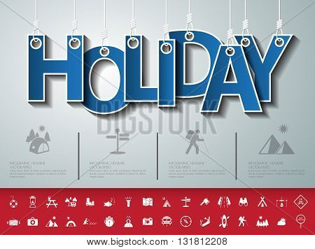 Design Abstract Infographic Front On The Rope.vector/illustration.holiday Icon Set.