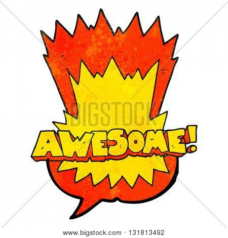 awesome freehand drawn texture speech bubble cartoon shout