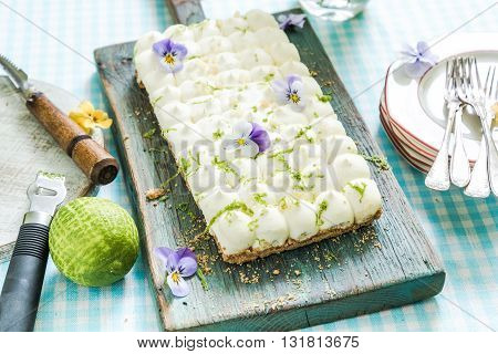 Serving Summer Lime Pie
