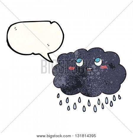 freehand drawn texture speech bubble cartoon raincloud