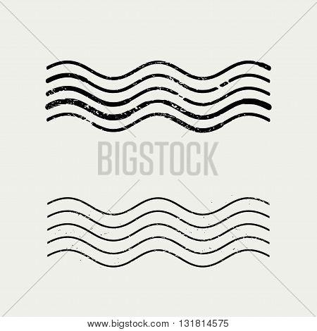 Grunge Wave Stamp