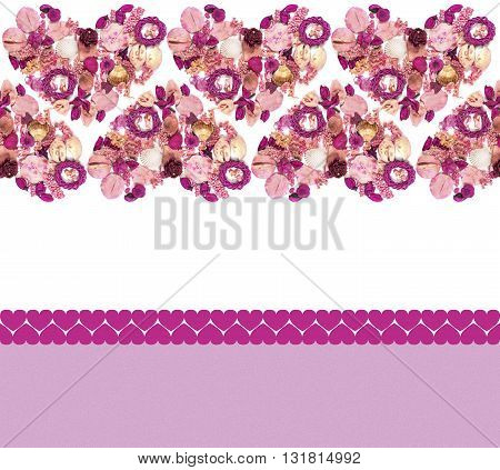 Greeting Card With Colorful Hearts