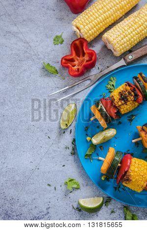 Vibrant Helthy Bbq Food, Border Background