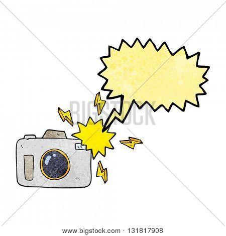 freehand speech bubble textured cartoon flashing camera