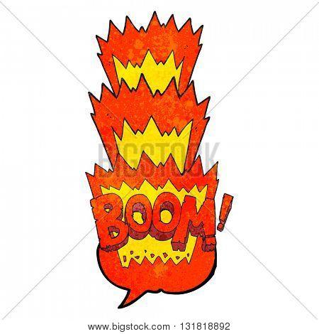 freehand speech bubble textured cartoon boom symbol