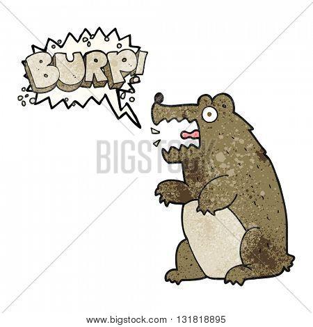 freehand speech bubble textured cartoon bear