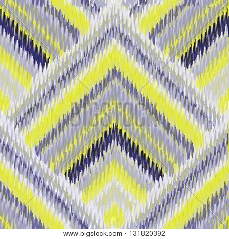 Seamless Ikat Pattern. Abstract background for textile design wallpaper surface textures pattern fills wrapping paper.