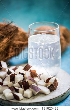 Refreshing Coconut Water With Pupl