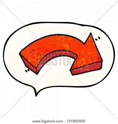 freehand speech bubble textured cartoon pointing arrow