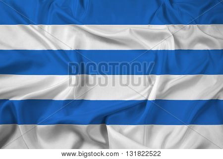 Waving Flag of Tallinn, with beautiful satin background