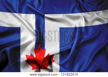 Waving Flag of Toronto, with beautiful satin background