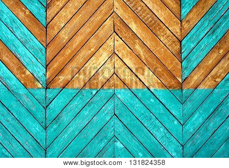 Wooden Texture with old and weathered Paint closeup