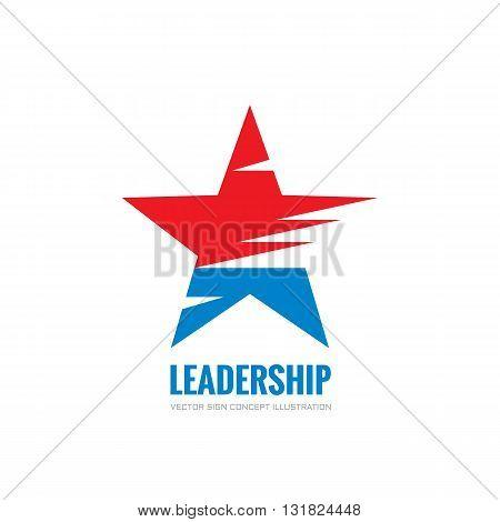 Leadership - vector logo concept illustration. Abstract star vector logo sign. USA star concept symbol. Decorative design element.