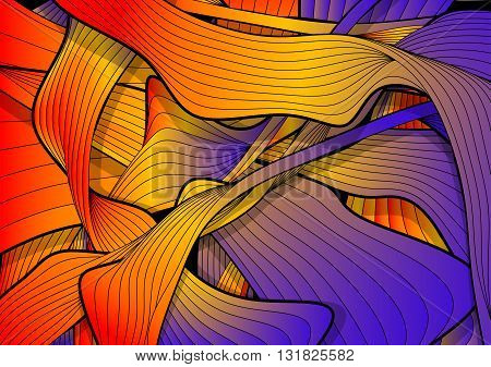 colourful abstract background with wawes and swirl