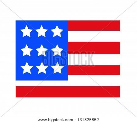 USA flag in style vector illustration art