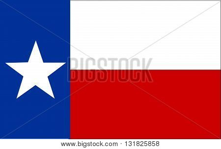 Flag of Texas. illustration abstract design art