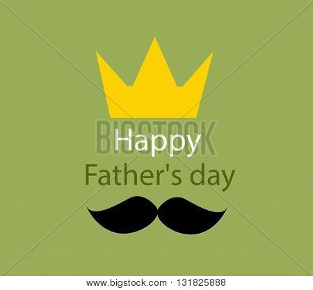 father's day greeting template illustration on green background